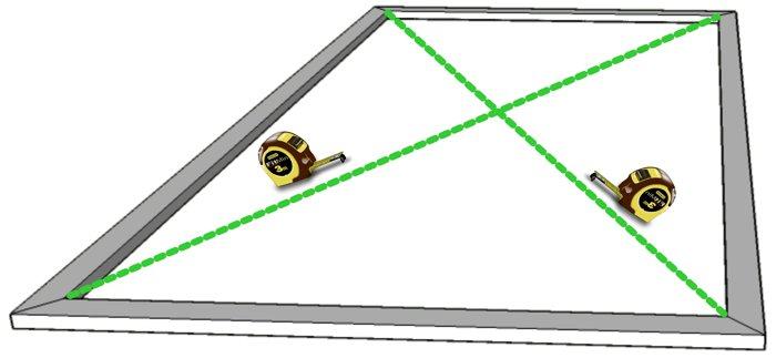 escuadra diagonales