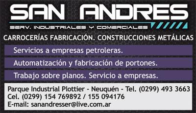 SAN ANDRES SERVICIOS INDUSTRIALES en Neuquén